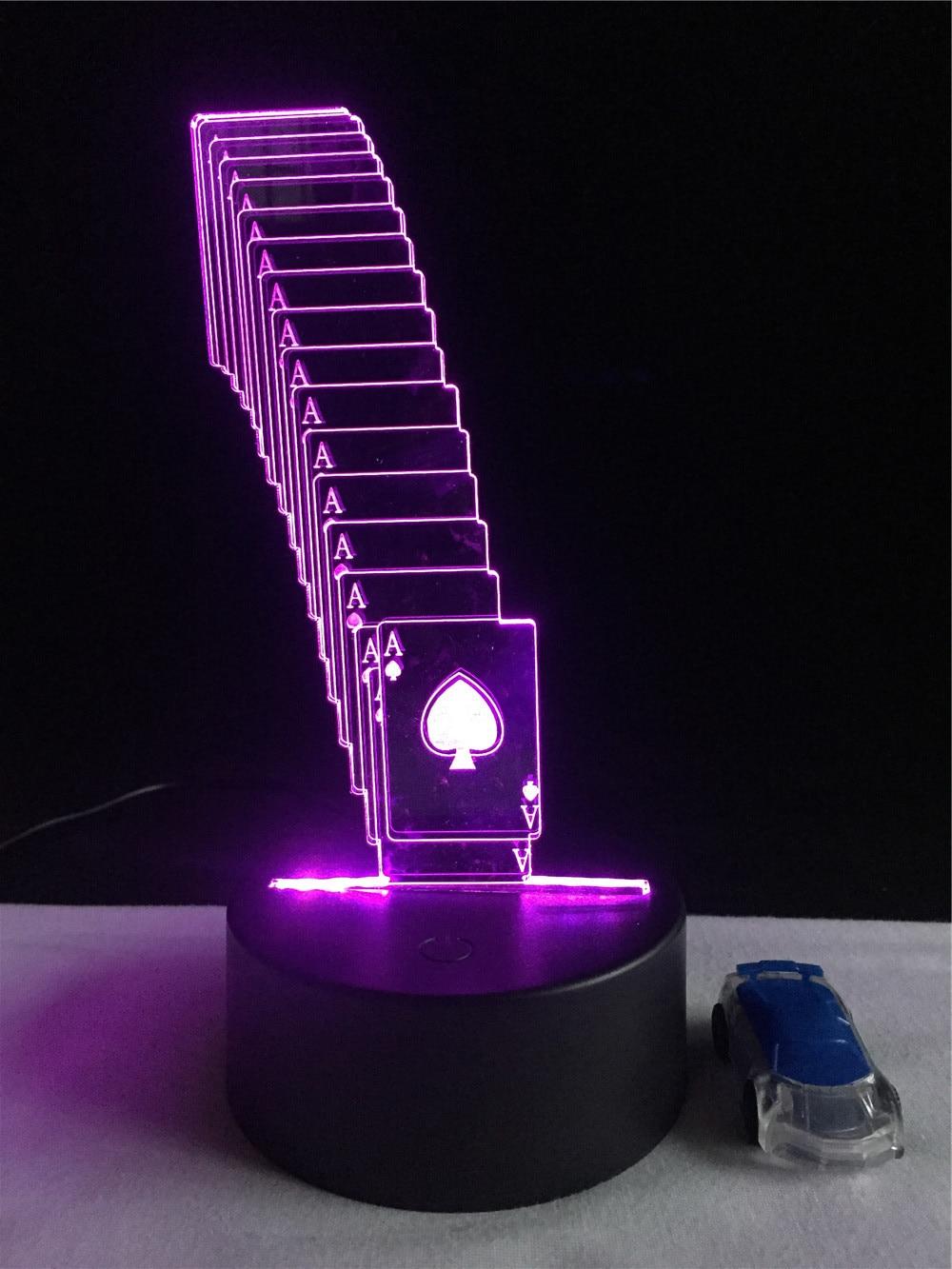 Luzes da Noite rc controle remoto de poker Function 1 : Led Bed Lamp/table Desk Lighting/bar Light