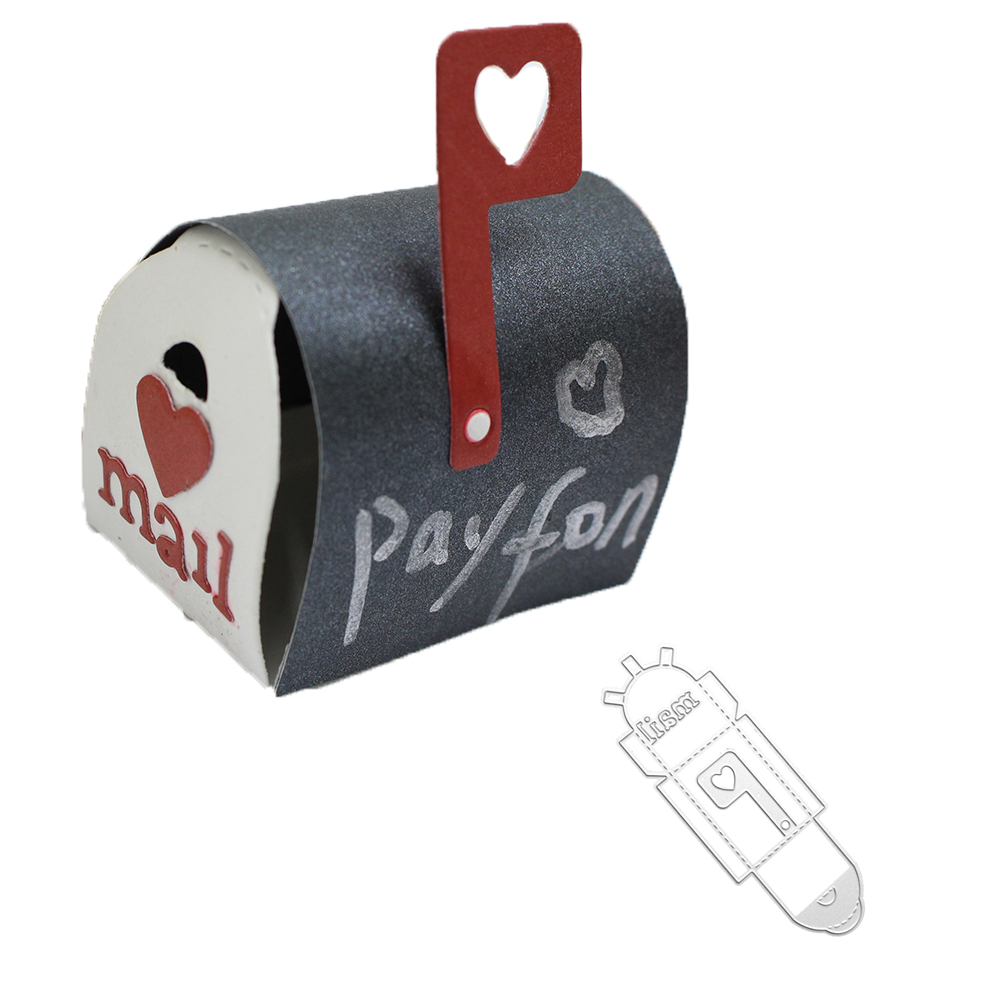 Bi fujian 3d love mailbox Metal Cutting Die Crafts Embossing Scrapbooking Die Carbon Cuts Paper Card Stencil For Albums Decor