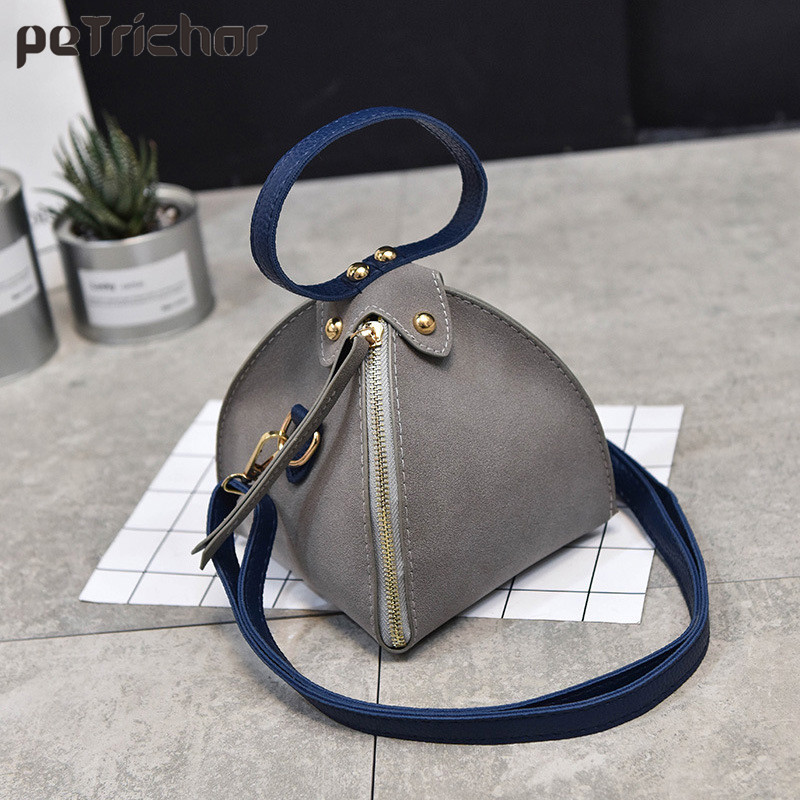 New Vintage Fashion Mini Women Bags Triangle Shoulder Bags Female PU Leather Messenger Crossbody Bag Purse Handbag Ladies fashion women mini handbag pu leather messenger crossbody shoulder bag wallet purse phone bags popular