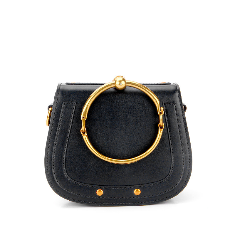 2018 new fashion trend circle portable ring shoulder bags leather bags hanging foreign trade bags стоимость