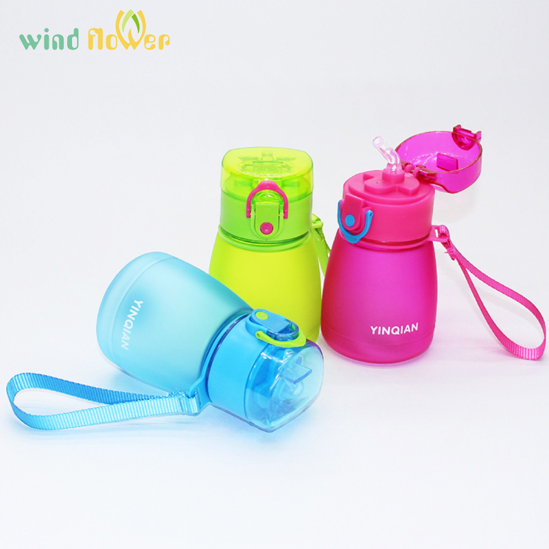 Water-Bottle Pipette Leakage Wind-Flower Plastic Kids Child 320ml with Rope To Carry