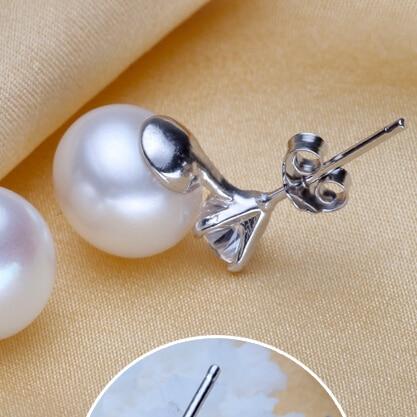Женские серьги с пресноводным жемчугом zhboruini серебряная