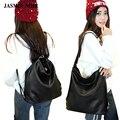2016 de invierno de las mujeres de las señoras bolsa de mensajero bolso de la manera bolsos de hombro back packs back bolso del diseñador de cuero negro bolsa de la escuela