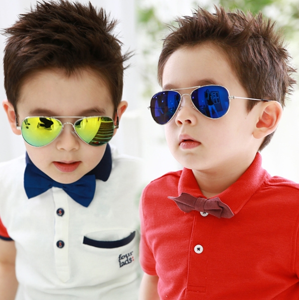 New handsome sunglasses Children aviator glasses Summer kids color film goggles Anti UV400 oculos Child cool gafas KS0040