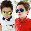 New handsome sunglasses Children aviator glasses Summer kids color film goggles Anti UV400 oculos Child cool gafas KS0040