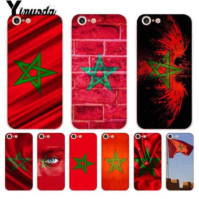 Yinuoda Cho iPhone 7 6 X Trường Hợp Morocco Cờ Đặc Biệt Cung Cấp Sang Trọng Trường Hợp Điện Thoại cho iPhone 8 7 6 6 s Cộng Với X 10 5 5 s SE XR XS XSMAX