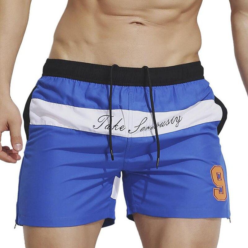 KWAN.Z board shorts men swimwear 2018 fashion youth beach shorts homens short masculino praia personality loose board short