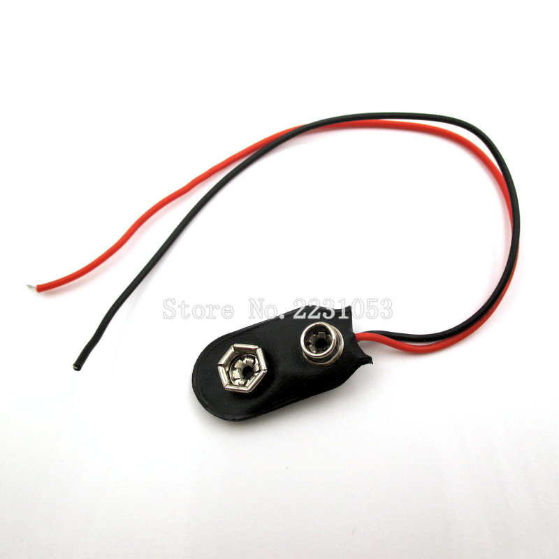 10PCS/LOT 9V Battery Snap-on Connector 9v Battery Clip For Arduino With Wire Holder Cable Leads Cord