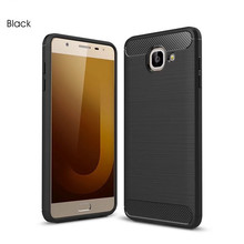 Soft Silicone TPU Carbon Fiber Case for samsung J3 j5 j7 max prime Cover Coque Luxury Shockproof Armor Full Protection