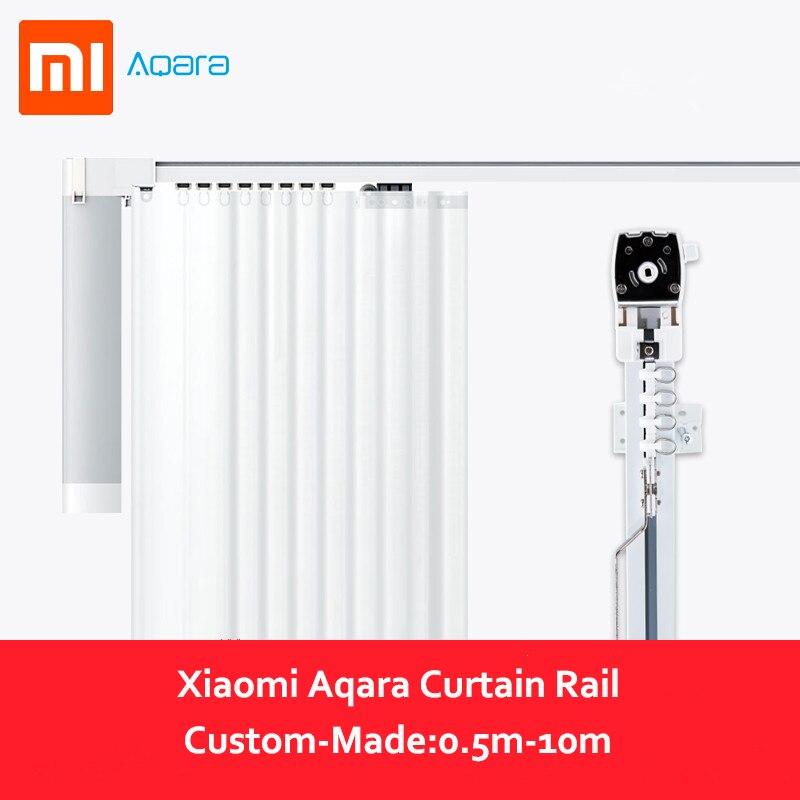 Xiaomi Aqara Curtain Motor Rails Zigbee Wifi Version Work With Mi Home App For Xiaomi Smart Home Silent Curtain Track