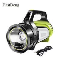 Handheld Led Searchlight Lantern USB Rechargeable Portable Spotlight Waterproof Flashlight Torch Camping Light Working Lamp