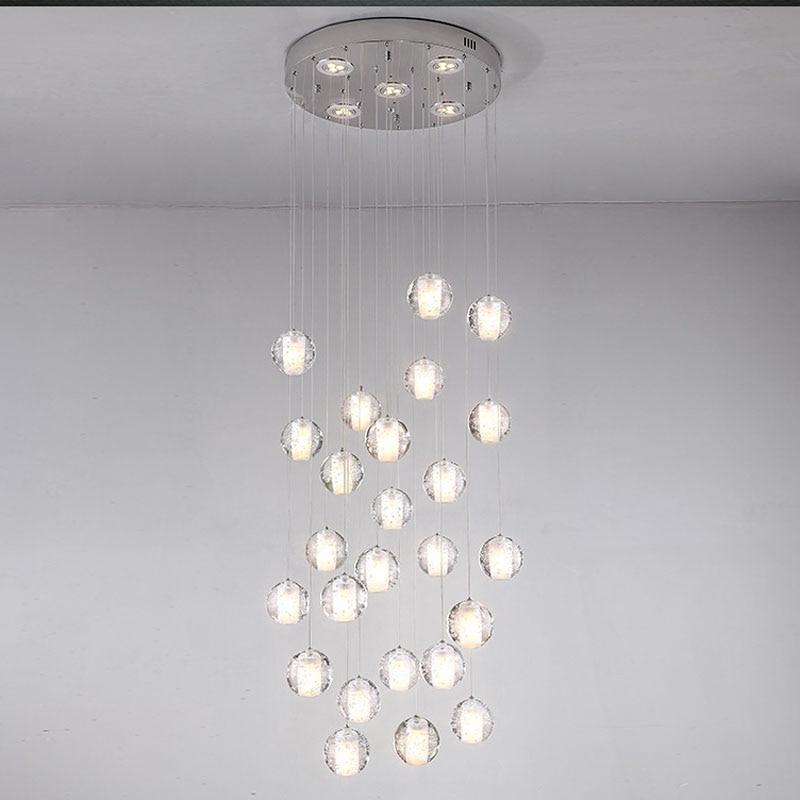 Hanging Fixture Linea Di Liara Ll P431 Fantastic 36 Lights Clear Cast Gl Crystal Sphere Magic