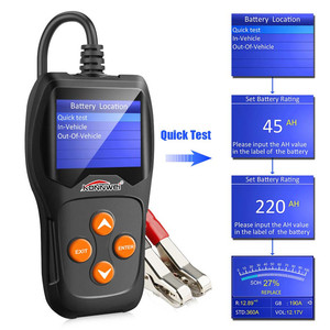 Image 3 - Batterie Tester 12V Automotive Last Auto Digitale Batterie Analyzer Batterie Scanner Multi Sprachen Fahrzeug Batterie Diagnose Werkzeug