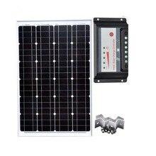 Solar Kit Photovatics Module 60w 12v Battery Charger PWM 12v/24v 30A Z Bracket Mount Boat Rv Motorhome Caravan Car