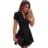 Damska Sukienka Czarny Letnie Sukienki Plus Size Kobiet Krótkim Rękawem plisowana 2018 Wiosna Lato Sukienka Kobiety Party Dress Niebieski Przewód czerwony