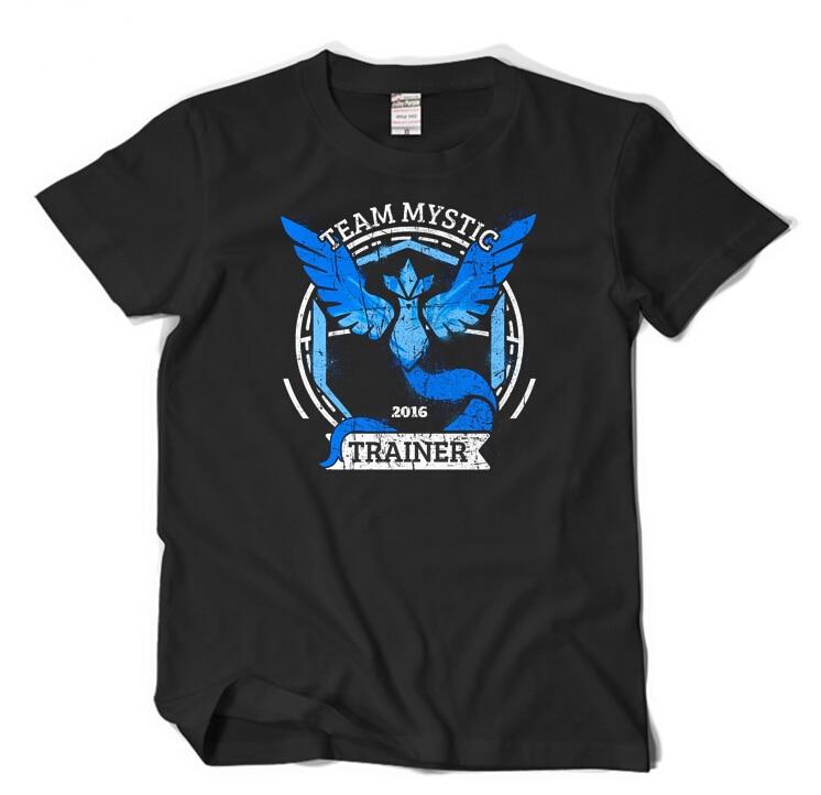 Pokemon Go Team Mystic Instinct Pokeball Male Famale Black DarkBlue Summer T-shirt Games T shirt Top Graphic Tee