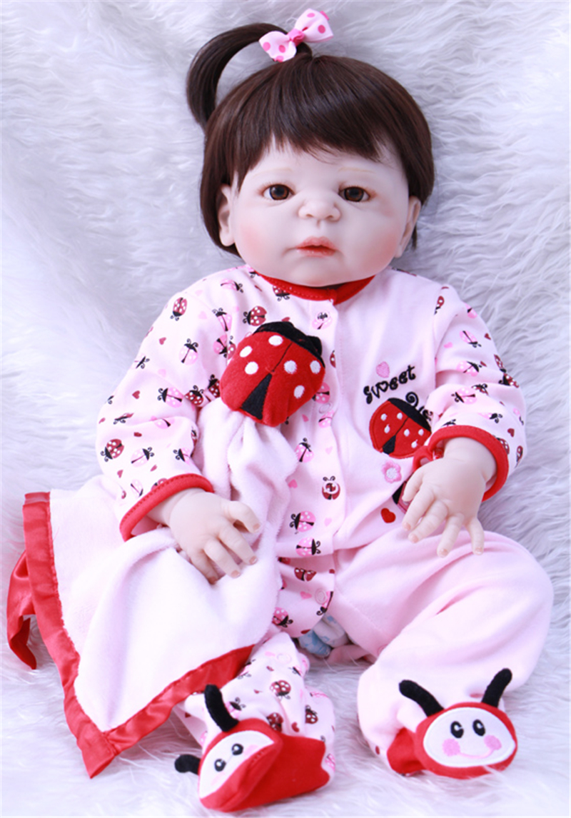 bonecas 55cm bebe reborn Full Body Silicone Reborn Baby Doll Baby-Reborn Babies Dolls Lifelike Child Birthday Christmas Toy Gift christmas gifts in europe and america early education full body silicone doll reborn babies brinquedo lifelike rb16 11h10