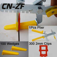 CN ZF Plastic Ceramic Accessories 100 Wedges 300 Clips 1 Plier Floor Spacers Tiles Tools Tile