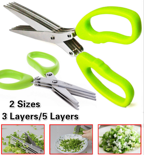 Scissors Sushi Kitchen-Knives Herb-Spices Multi-Functional Stainless-Steel 5-Layers 3