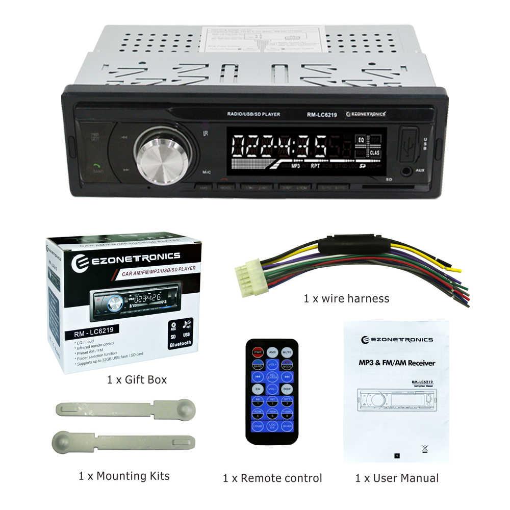 ¡Novedad de 2018! reproductor estéreo de Radio para coche con Bluetooth, Audio para teléfono, AUX-IN automático, MP3, FM, AM, USB, 1Din, Control remoto Universal de 12 V, 4x45 W
