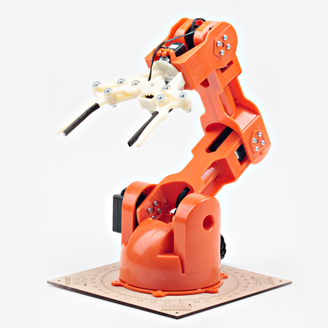 US $425 0 |Arduino Braccio Mechanical arm Educational robot Intelligent  electronic open source hardware 6DOF-in Action & Toy Figures from Toys &