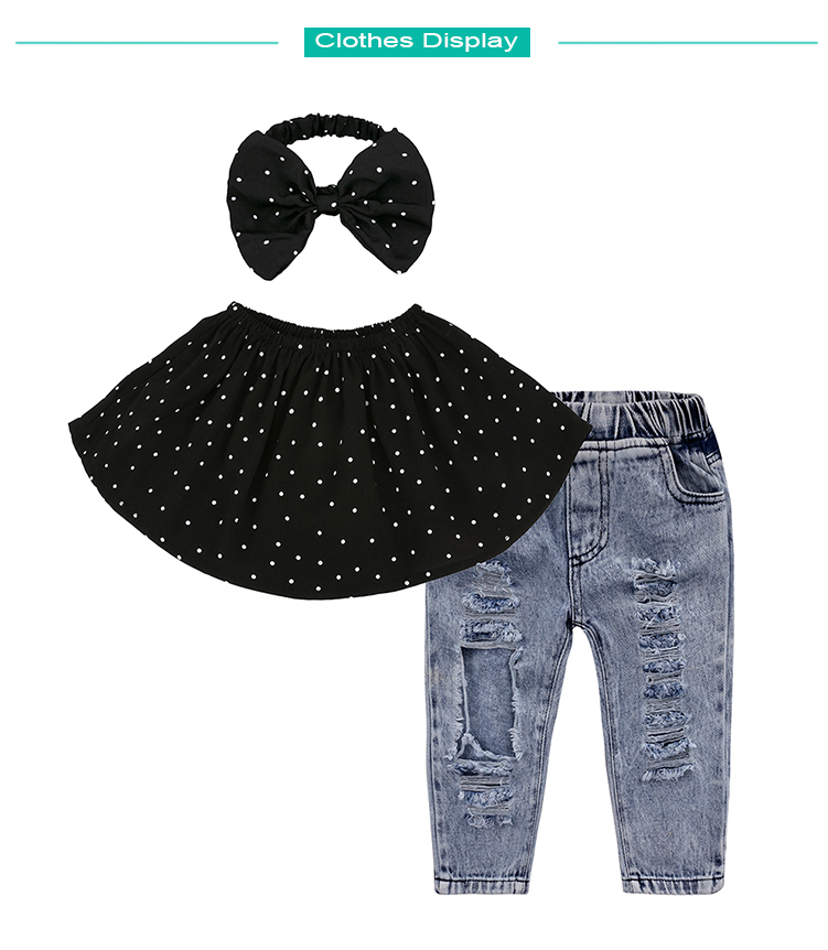 Children Sets for Girls Fashion 19 New Style Girls Suits for Children Girls T-shirt + Pants + Headband 3pcs. Suit ST307 181