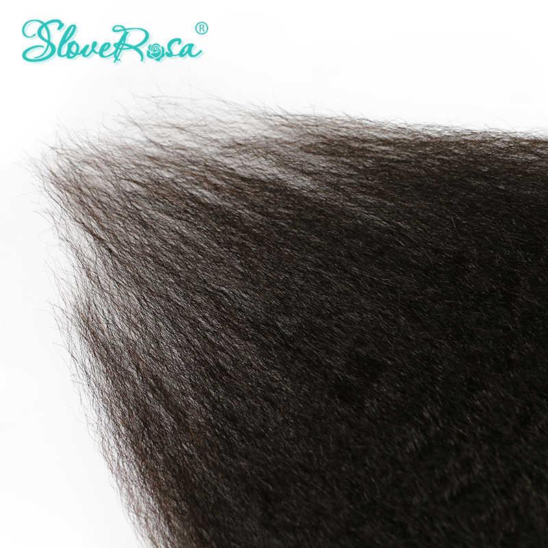 Slove Rosa Grob Verworrene Gerade Clip In Haar Extensions 100% Brasilianische Menschliches Remy Haar 8 Stück Und 120 gr/satz Natürliche farbe