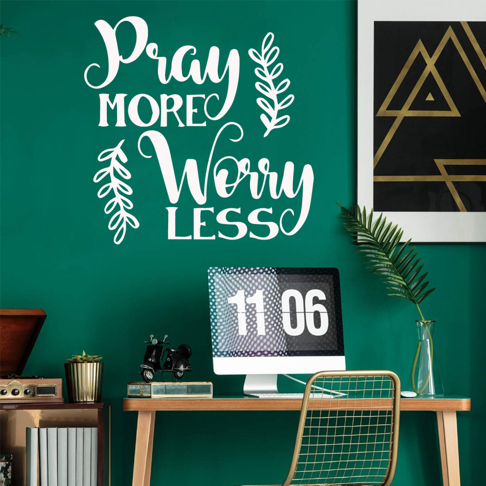 Free shipping Play More Worry Less Pvc Wall Decals Home Decor For Bedroom Decoration muursticker