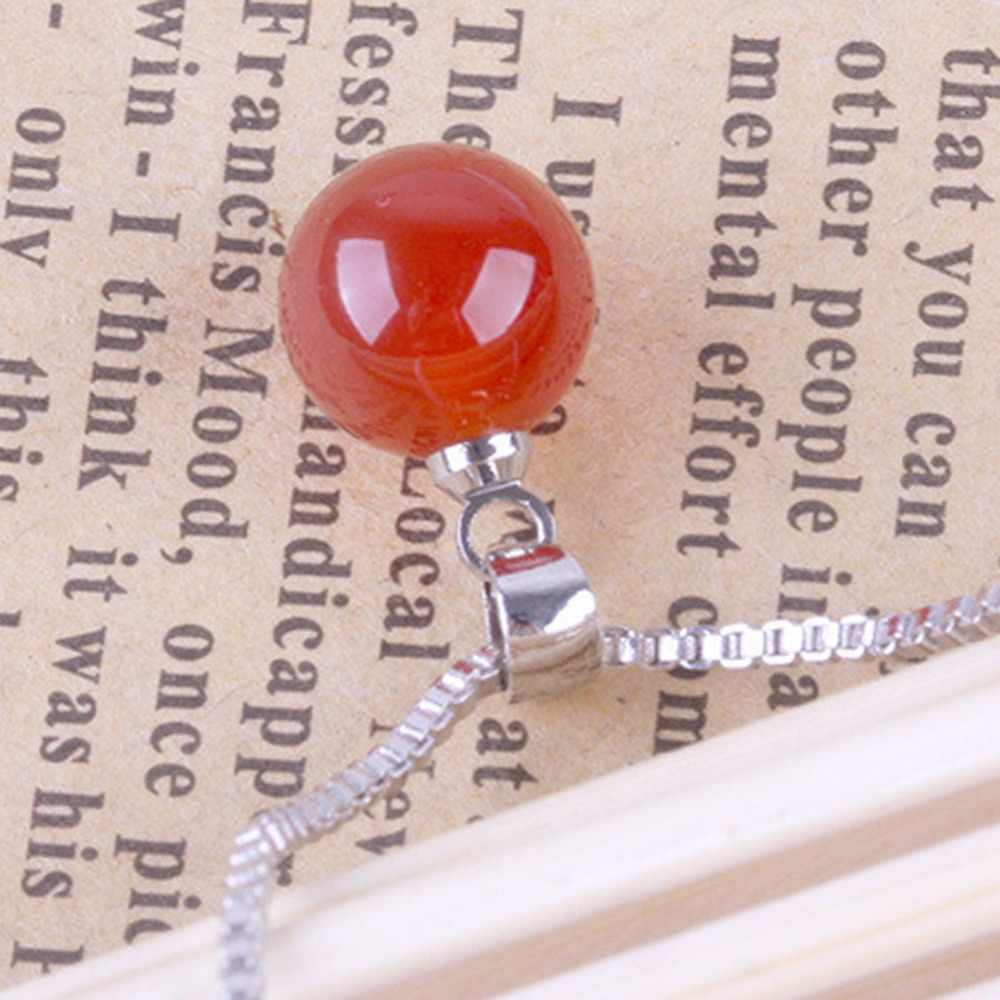 Fashion Natural Crystal  Necklace Pendant Jewelry Accessoreis Black Red NL-0824