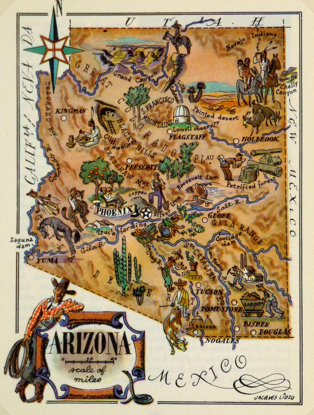 Map Of Arizona To Mexico.Us 3 98 Map Of Arizona Mexico Classic Vintage Retro Kraft Decorative Poster Maps Home Bar Posters Wall Canvas Sticker Decor Gift In Painting