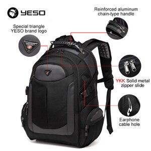 Image 5 - YESO Marka Dizüstü Sırt Çantası erkek seyahat çantaları 2019 Çok Fonksiyonlu Sırt Çantası Suya Dayanıklı Siyah Bilgisayar Sırt Çantaları Genç Için