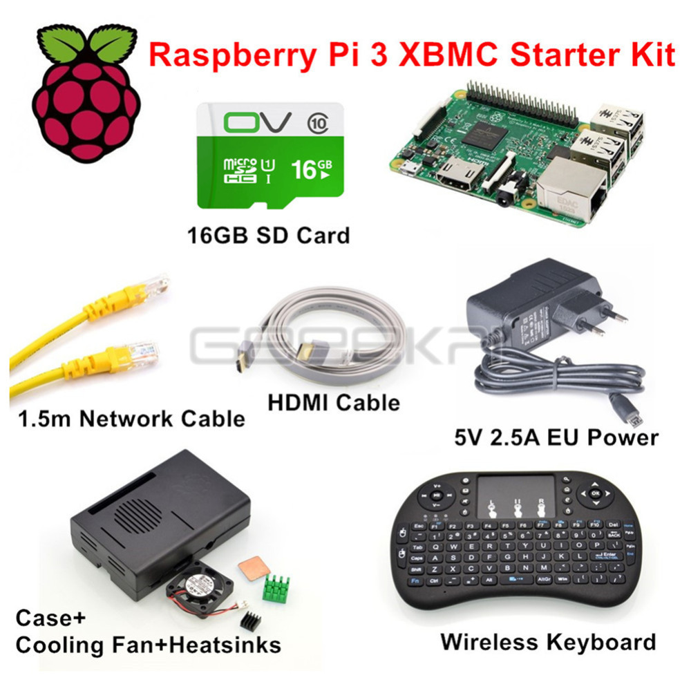 GeeekPi Raspberry Pi 3 Model B XBMC KODI OSMC Starter Kit