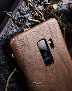 Image 5 - Funda para Samsung Galaxy S10 S10 + S10e S9/S9 + S9 ultra Plus madera de nogal Enony palisandro caoba parte posterior de madera