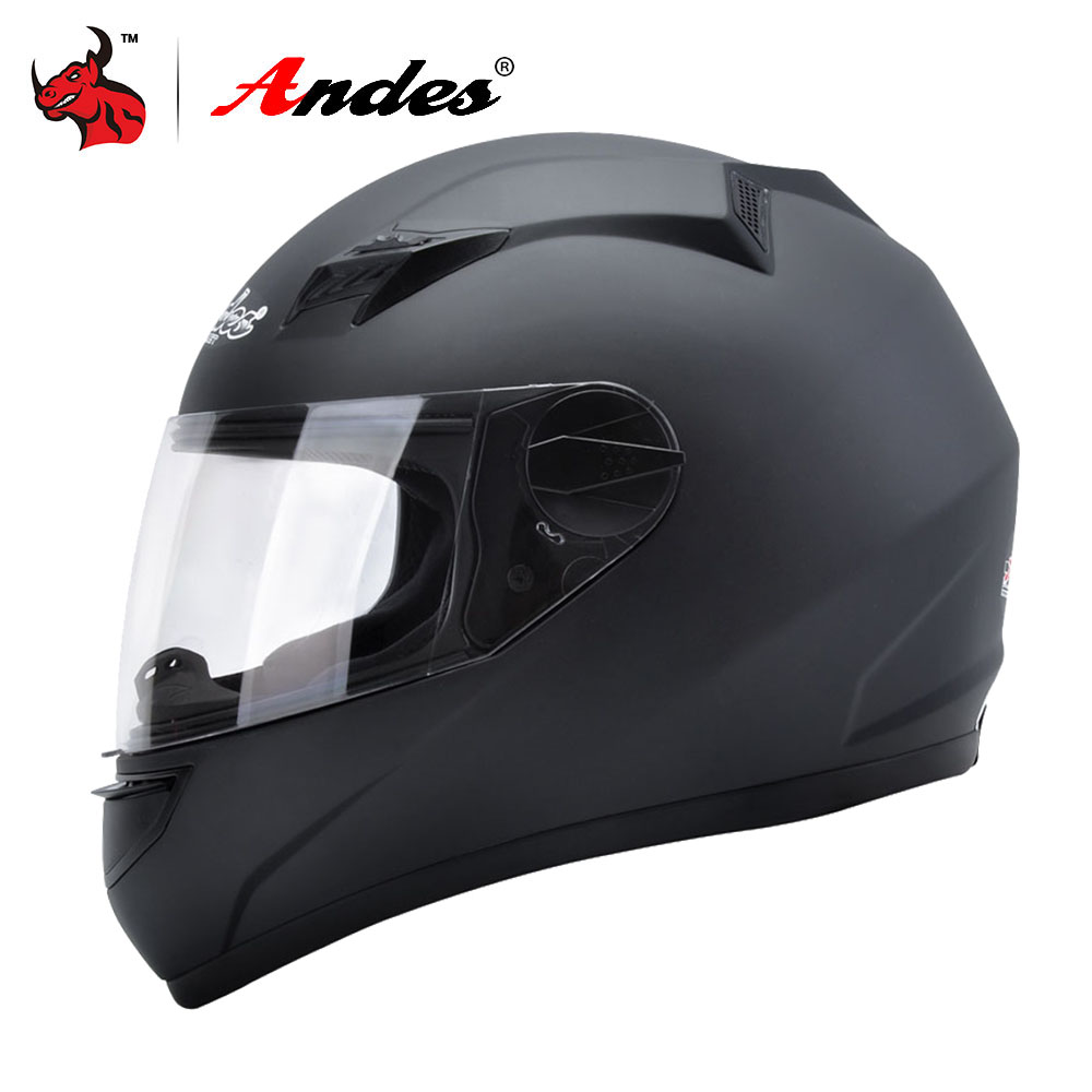 цена на Andes Motorcycle Helmet Men Full Face Moto Helmet For Scooter Biker Capacete Motocross Motorbike Moto With Anti-fog Visor