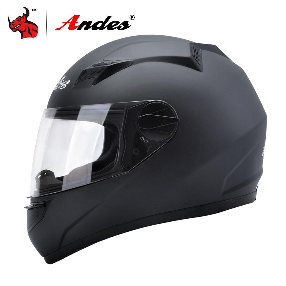 Andes Motorcycle Helmet Men Full Face Moto Helmet For Scooter Biker Capacete Motocross Motorbike Moto With Anti-fog Visor