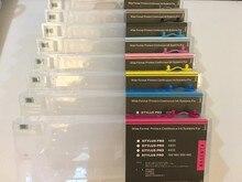 Cartouche dencre vide rechargeable, avec puce de réinitialisation, pour imprimante Epson stylet Pro, 4000, 7600, 9600, 220ML