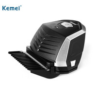 Kemei Professional Electric Hair Trimmer Hair Clipper Haircut Beard Trimmer Razor For Adult Men With 9 Trimming Combs
