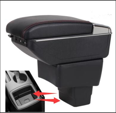 For mazda2 armrest box central Store content box with cup holder ashtray USB armrests box
