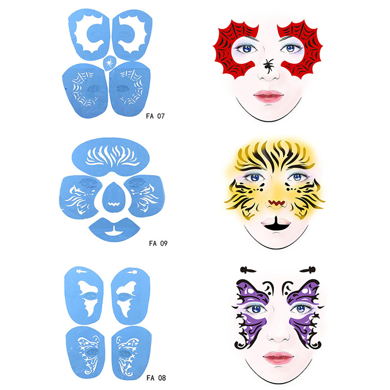 Face Painting Butterfly Stencil