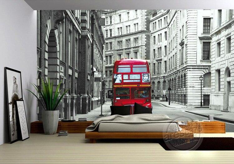 Us 1673 38 Offcustom Photo Wallpaper London City Urban Wallpaper 3d Designer Wall Mural Red Bus Bedroom Sitting Room Kids Room Decor Home Art In
