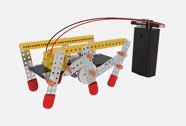 JMT Double Drive 6 legged Robot DIY Plastic Puzzle Educational font b Toys b font Technology
