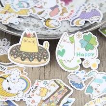 40pcs Cartoon Kitty Cute Cat Handmade Scrapbooking Stickers Decorative Sticker DIY Craft Photo Albums Decals Diary Deco