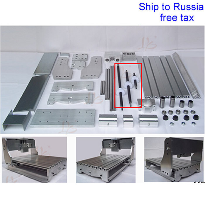 DIY 3020T CNC frame kit of router with trapezoidal screw optical axis and bearing to Russia free tax free tax to eu high quality cnc router frame 3020t with trapezoidal screw for cnc engraver machine