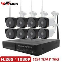 ФОТО 8CH CCTV Camera System Wireless 1080P HD Plug Play 20m Night Vision P2P Waterproof Home Security Wifi Outdoor IP Camera System