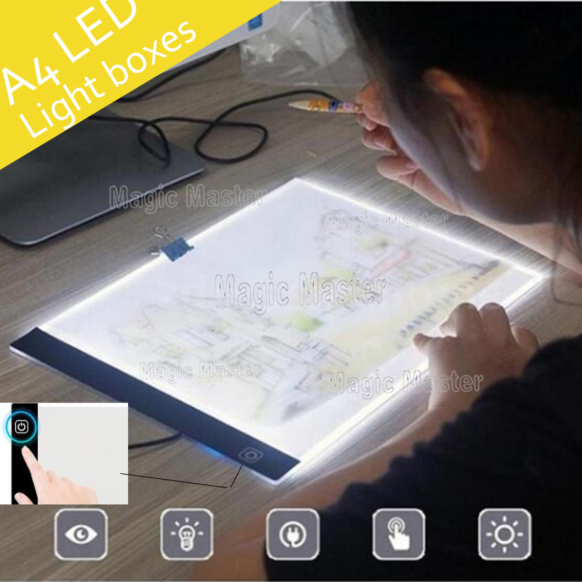 Dimmable LED Graphic Tablet Writing Diamond Painting Tool Light Box Pads Digital Drawing A4 Copy Tablet Daimond Embroidery