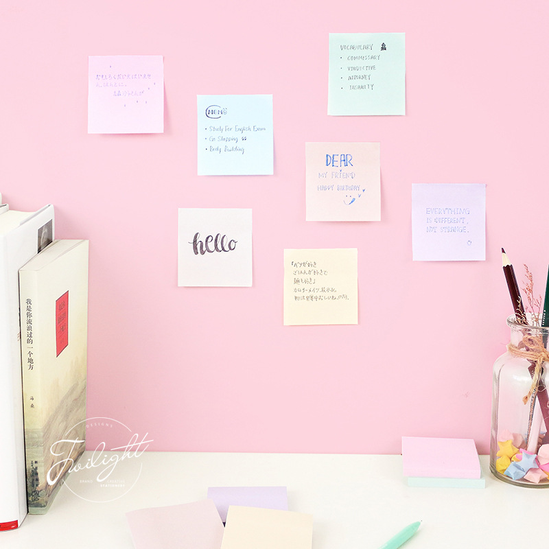 24 pcs/Lot Mini macaroon color sticky notes memo pads Post Diary book sticker planner agenda Office School supplies A6905