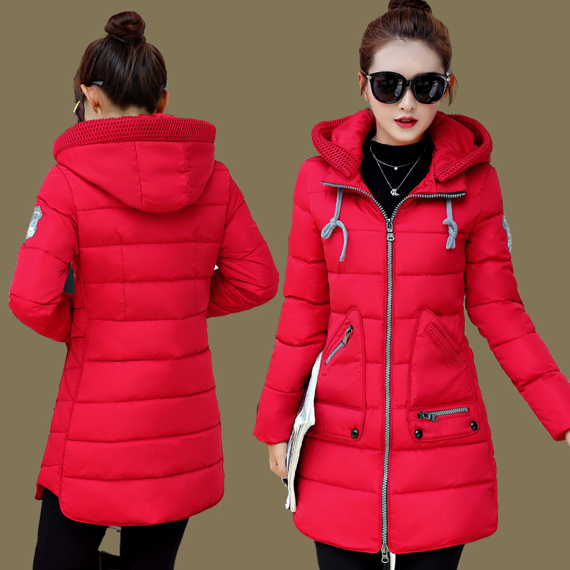 2017 plus size plus size Women cotton-padded jacket down cotton with a hood medium-long wadded jacket outerwear 90 - 200 linenall women parkas loose medium long slanting lapel wadded jacket outerwear female plus size vintage cotton padded jacket ym