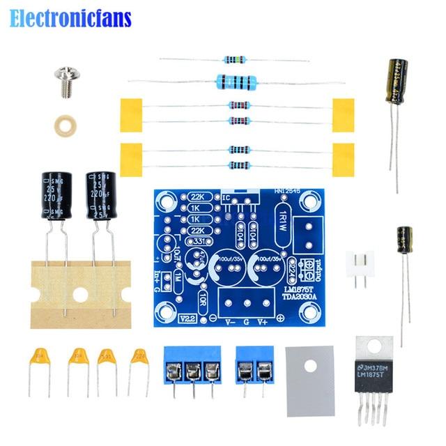 20 W HIFI Mono Kênh LM1875T Stereo Board Khuếch Đại Âm Thanh Module DIY Kit