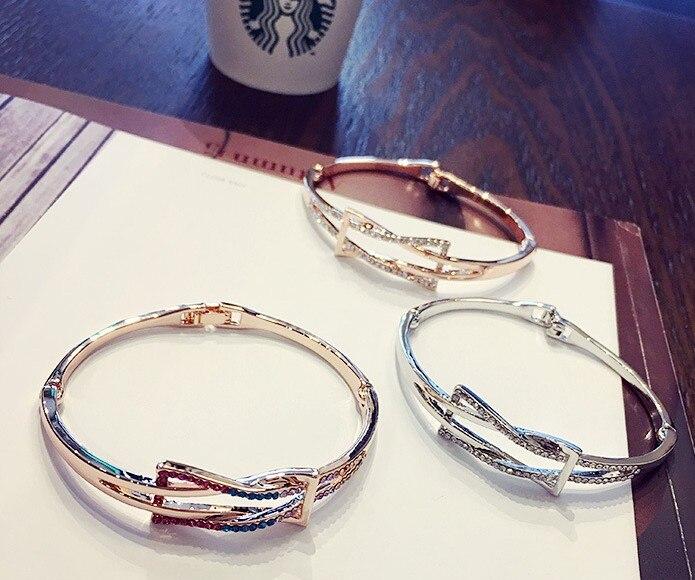 Fashion jewelry Flash Little Swarovski Micro Bracelet charm bracelet Crystals from Swarovski for women's gift
