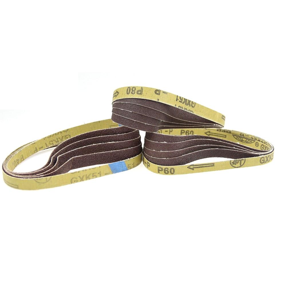 5 Pcs 457*13mm Belt Grinder Sanding Bands P40 - P320 For Welding Spot Grinding